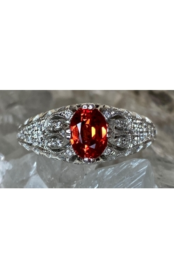 Orange Sapphire Ring product image