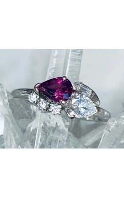 Estate Platinum, Ruby & Diamond Ring product image