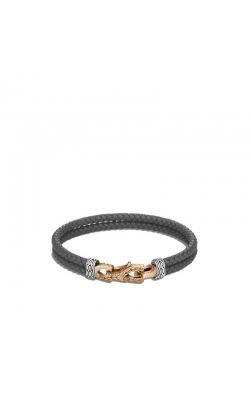 John Hardy Asli Classic Chain Bracelet With Grey Woven Leather product image