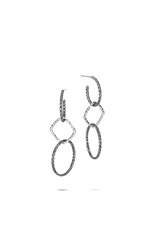 John Hardy Classic Chain Hammered Interlink Drop Earrings product image