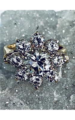 Estate Diamond Cluster Ring product image