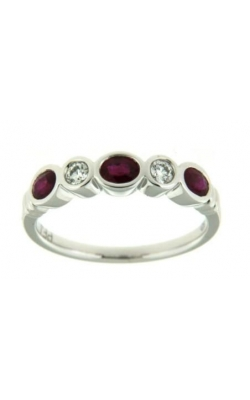 Bezel Set Ruby & Diamond Ring product image