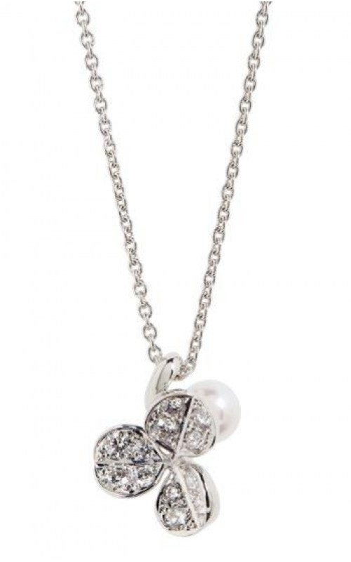 Mikimoto Diamond and Pearl Necklace product image