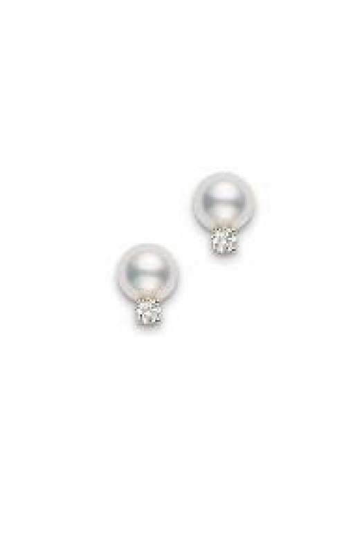 Mikimoto Pearl and Diamond Stud Earrings product image